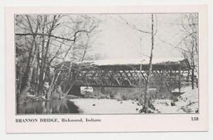 RICHMOND INDIANA COVERED BRIDGE RP REAL PHOTO POSTCARD