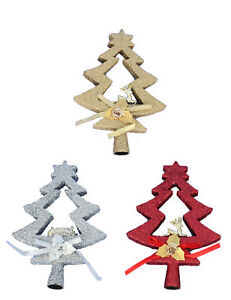 GLITTER-TREE-SHAPED-CHRISTMAS-XMAS-DECORATION-TOPPER-TOP-20CM