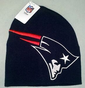 New England Patriots Beanie Winter Hat BIG LOGO - HYPE
