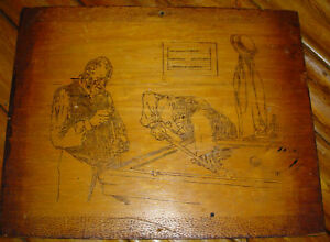 Inlaid-Wood-Plaque-of-Two-Men-Playing-Pool-30260