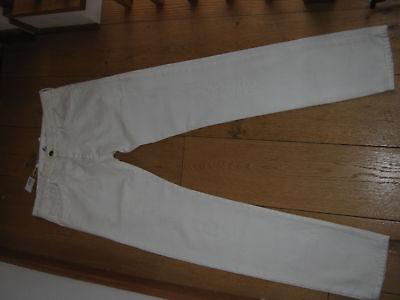 Diesel Black Gold Perinz White Straight Slim Leg Jeans Smart Waist 32