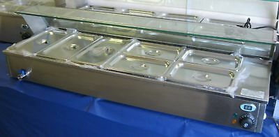 NEW ACE 7 Pan Gastronorm Wet Well Bain Marie with temp