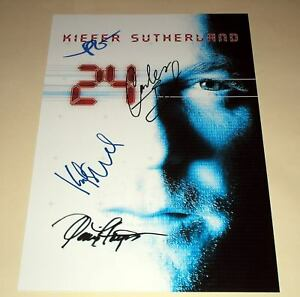 24-PP-SIGNED-12X8-POSTER-KIEFER-SUTHERLAND-TWENTY-FOUR
