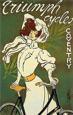 Triumph Cycles Coventry Bicycle Advertisement Art Poster Print
