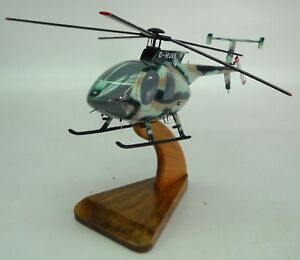 MD Helicopters Hughes-369-500 Helicopter Desk Wood Model Small New