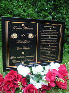 PERSONALISED-OCCASIONS-MEMORIAL-GRAVE-PLAQUE-MUM-DAD-GRAN-GRANDAD-SISTERBROTHE