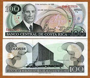 Costa-Rica-100-Colones-9-11-1988-P-248b-UNC