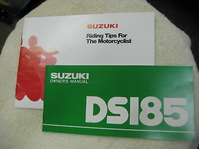 Suzuki Ds185 Owners Handbook With Tips Booklet