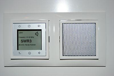 Berker Radio Touch NEU 28809909 S1 polarweiß matt mit Abdeckrahmen