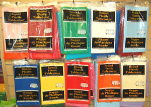 Plastic-Table-Cover-Cloth-Round-213cm-84-19-Colours