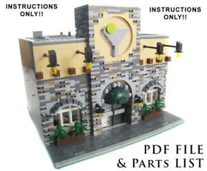 Lego-Custom-City-Restaurant-Modular-INSTRUCTIONS-ONLY