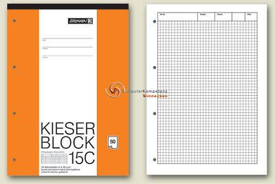 Kieser-Block 15C kariert Lineatur 22  Brunnen