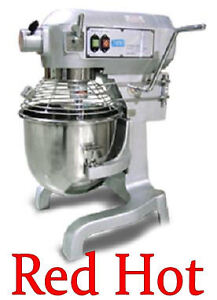 Fma Omcan 1.5 Hp 20 Qt Commercial Dough Food Mixer  Gear Driven 20441