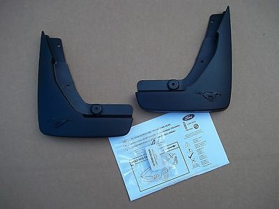 2011 2012 Mustang V6 Molded Mud Flaps Rear 2 Piece Set