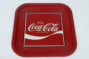 coca cola plateau allemand carre metal enjoy coca cola 35 cm ebay. Black Bedroom Furniture Sets. Home Design Ideas