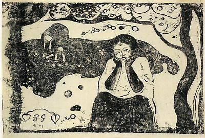 Gauguin Woodcuts: Human Misery - Fine Art Print