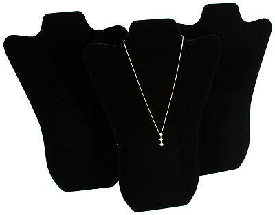 3 Black Velvet Pendant Necklace Jewelry Display 14