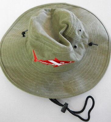 Scuba Diving Dive Hat Floppy Shark Flag Diver Safari Md Ap17