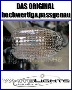 Weisse klare Blinker Gläser BMW K 1200 RS R 1100 S hinten clear signal lenses