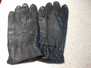 NEW-BLACK-LEATHER-THINSULATE-DRIVING-GLOVES-PAIR-XL