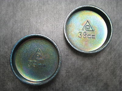 39mm (1.54 Inch) Steel Expansion Freeze Plug - Pack Of 2 - Ships Fast