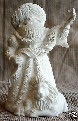 Ceramic Bisque Peace Santa Gare Mold 2872 U-Paint Ready To Paint