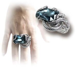 alchemy gothic snake ring