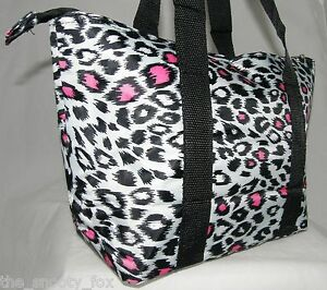 Insulated-Lunch-Tote-Makeup-Bag-Case-Lynx-Leo-Dot-Zebra