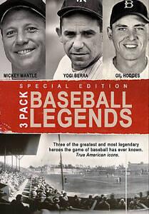 Baseball-3-Pack-Yogi-Berra-Mickey-Mantle-Gil-Hodges-DVD-Derek-Jeter-Phil-Linz