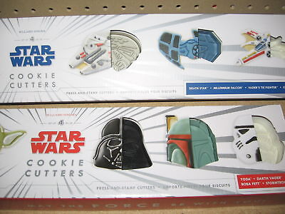 Star Wars Cookie Cutters Heros And Vehicles By Williams Sonoma Bundle