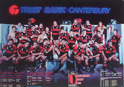 CANTERBURY NEW ZEALAND RUGBY TEAM POSTER 1994