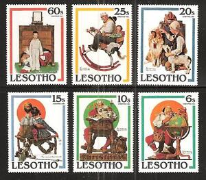 LESOTHO-344-9-MNH-ROCKWELL-SATURDAY-EVENING-POST