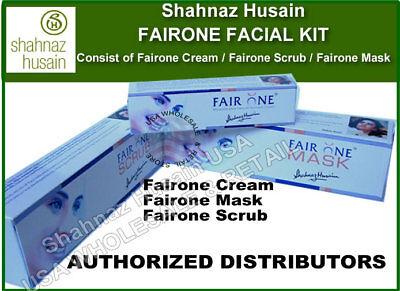 Shahnaz Hussain Husain Fairness Facial Kit Cream Scrub Mask Usa Seller