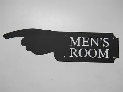 MENS ROOM HAND SIGN GAME ROOM MAN CAVE RESTROOM BATH