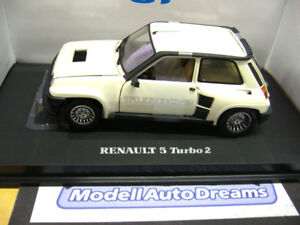 RENAULT 5 Turbo 2 1978 weiss white 1/1000 UH Eagles RARE 1:18