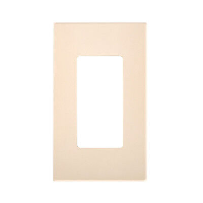 (100) Screwless Wall Plate Decora Gfci Cover Ivory