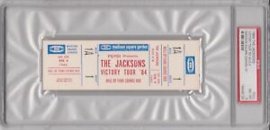 84-JACKSONS-Victory-Tour-Full-Ticket-Madison-Square-Garden-Box-1-Seat-1-PSA-8