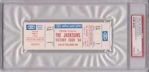 84-JACKSONS-Victory-Tour-Full-Ticket-Madison-Square-Garden-Box-1-Seat-1-PSA-8