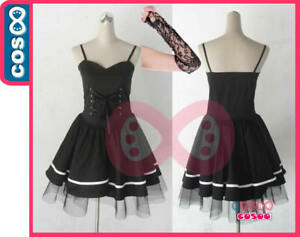 DEATH-NOTE-Misa-Amane-Black-Dress-Anime-Cosplay-Costume