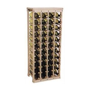 44 bottle wood wine rack with a solid wood top