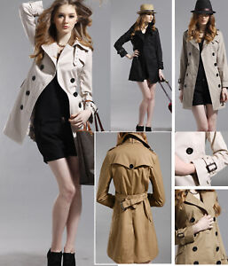 NEW-Womens-Double-breasted-Trench-Coat-Jacket-GF033