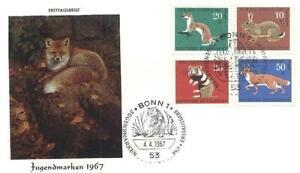 Germany 1967 FDC 529-32 Animals Pets Tiere -  Dabrowa, Polska - Germany 1967 FDC 529-32 Animals Pets Tiere -  Dabrowa, Polska