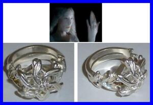 LOTR-Lord-Rings-GALADRIEL-RING-NENYA-Silver-Swarovski-OFFICIAL-CERTIFICATE-BAG