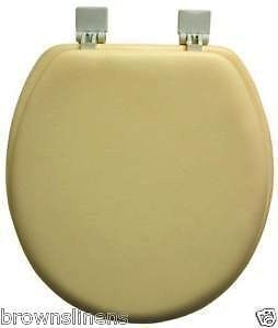 ginsey classique soft toilet seat standard round yellow ebay. Black Bedroom Furniture Sets. Home Design Ideas