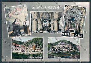 Perugia-Cascia-Saluti-da-foto-cartolina-B8933-SZG