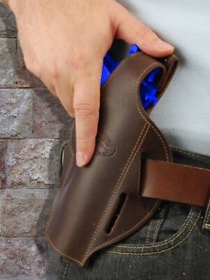 Brown Leather Pancake Holster For Beretta 92 96 98 M9