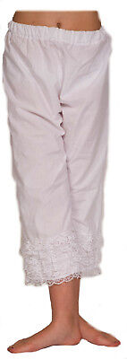 nisch Kinder Bloomers/Pantalons mit Spitze Alle Größen (Kinder Steampunk Kostüm)