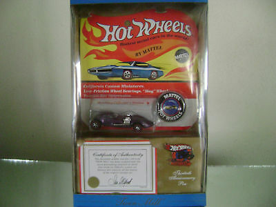hot wheels 1969 authentic green twin mill replica button pin coa new in box Toys