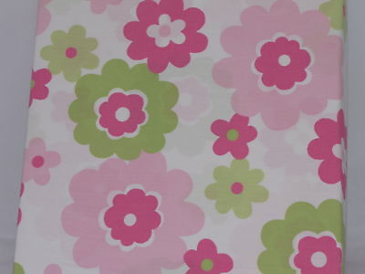 Set/2 Crib Sheets Pink Green Floral Baby Sheet Flower Company Kids Nursery bed for sale  Shipping to India