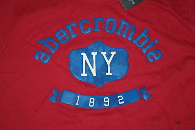 Abercrombie Boys X Ny Muscle Fit Red T-shirt - Last One